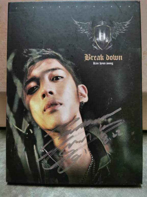 [Ready Stock] Kim Hyun Joong Break Down  Signature Album
