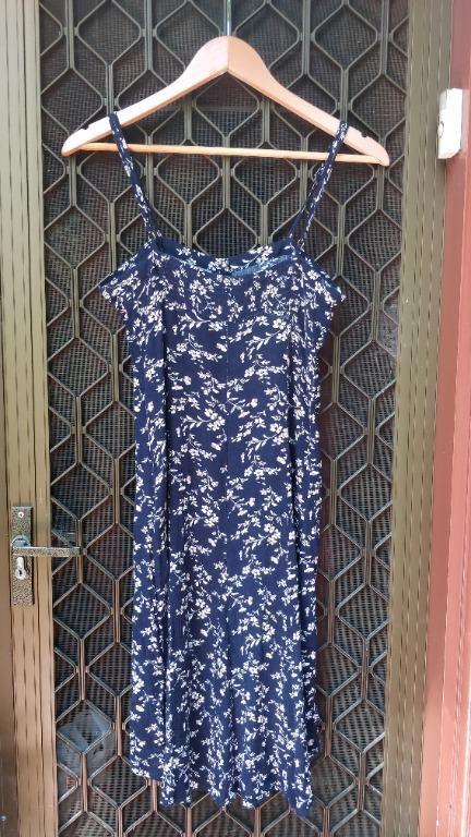 SNDYS Everyday Sun Dress Navy Blue Floral Singlet Mini Midi Sundays The Label