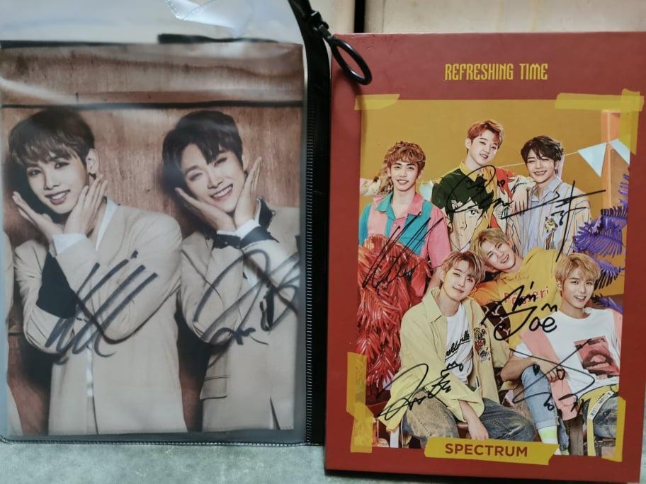SPECTRUM 3rd Single Album - Refreshing Time Full Members Signature CD  + Slogan