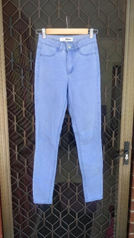 SUPRE Light Blue Skinny Jeans High Waisted Denim High Waist Slim Fit Tube Missguided Nastygal Cotton On JayJays