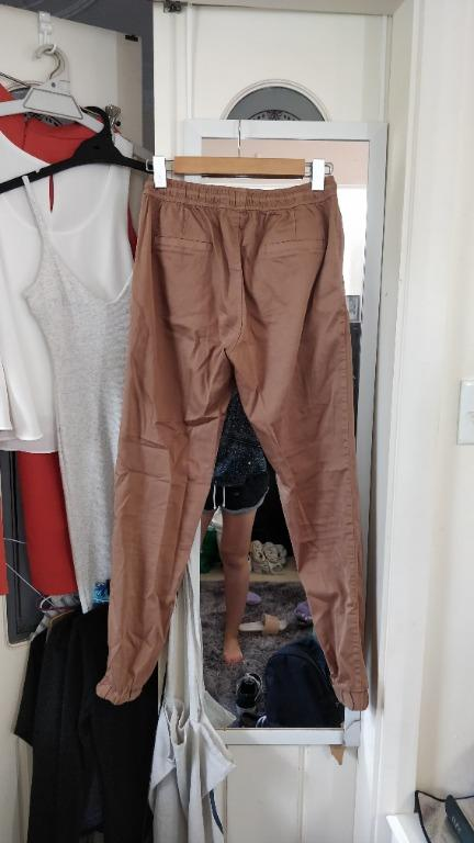 SWELL SURFSTITCH Camel Chino Pants Womens Chinos Tapered Tan Trousers Skate Boho Princess Polly Beginning Boutique Glue General Pants