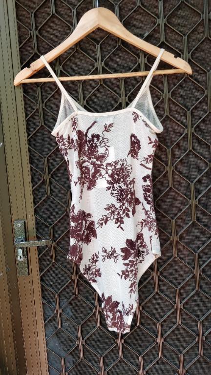 VALLEYGIRL Bodysuit Nude Pink Mesh With Velvet Floral Detail Sheer Glassons Dotti Allyfashion Temt