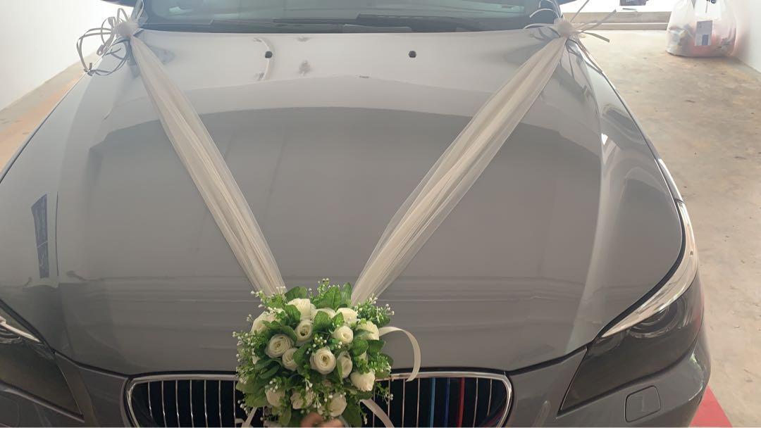 Malay Wedding Car BMW523I + chauffeur. Whatsapp 88567422 to book now.