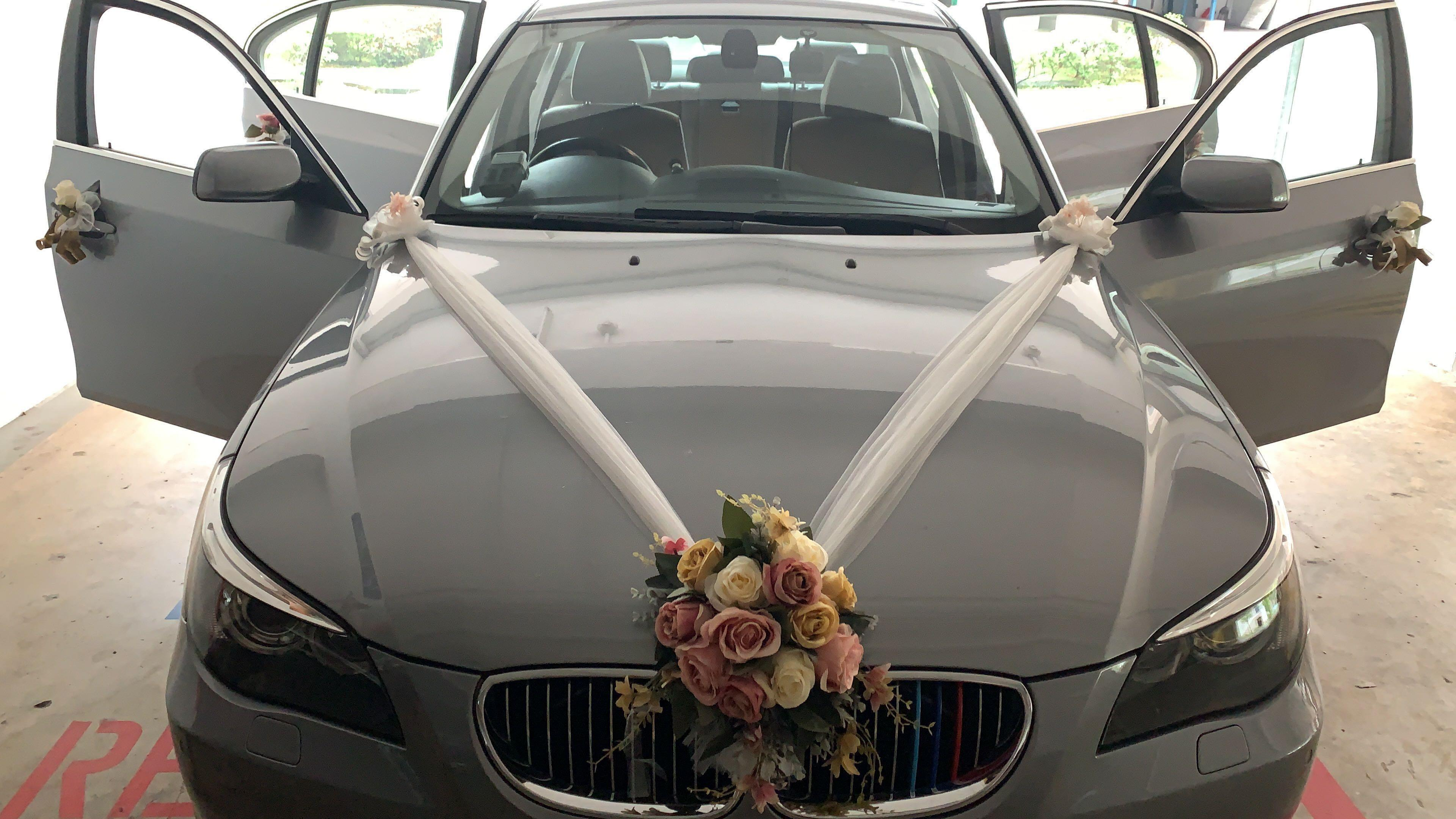 Wedding/ ROM / Anniversary BMW523i Grey with Decor $188 whatsapp 88567422