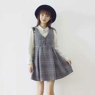 秋冬毛呢連衣裙