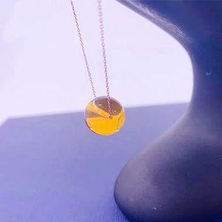 【免運】【附禮盒及證書】天然琥珀925銀項鍊