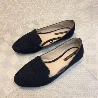 Pull&bear 深藍平底鞋/包鞋