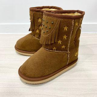 全新日本航海王one piece咖啡色雪靴 馬靴 18cm