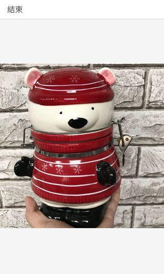 陶瓷小熊收納罐