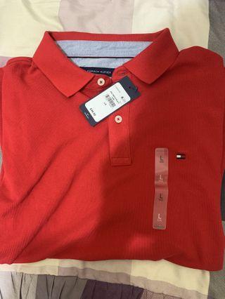 Tommy  紅色Polo衫 全新正品 標籤未拆