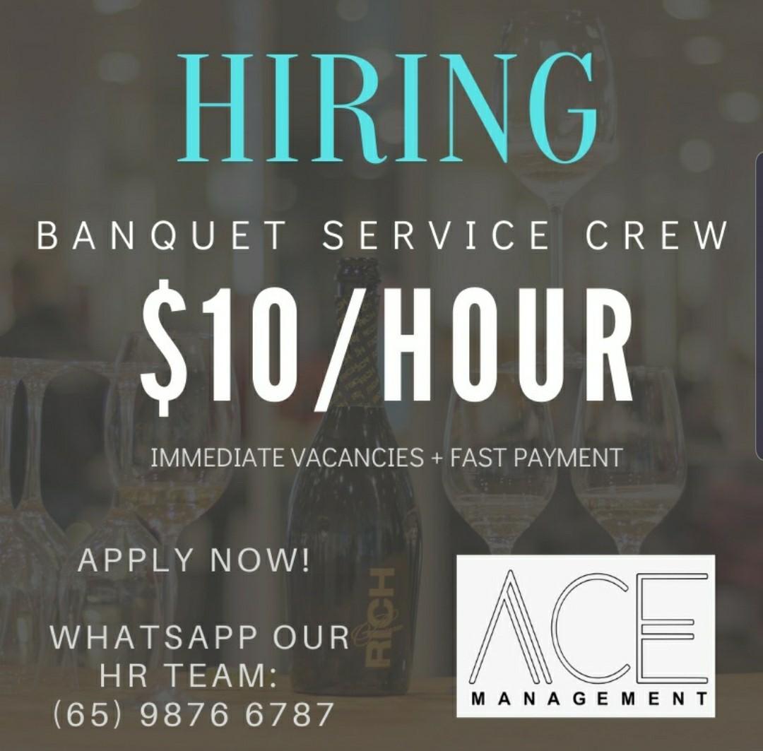 Banquet Service Crew PART TIME