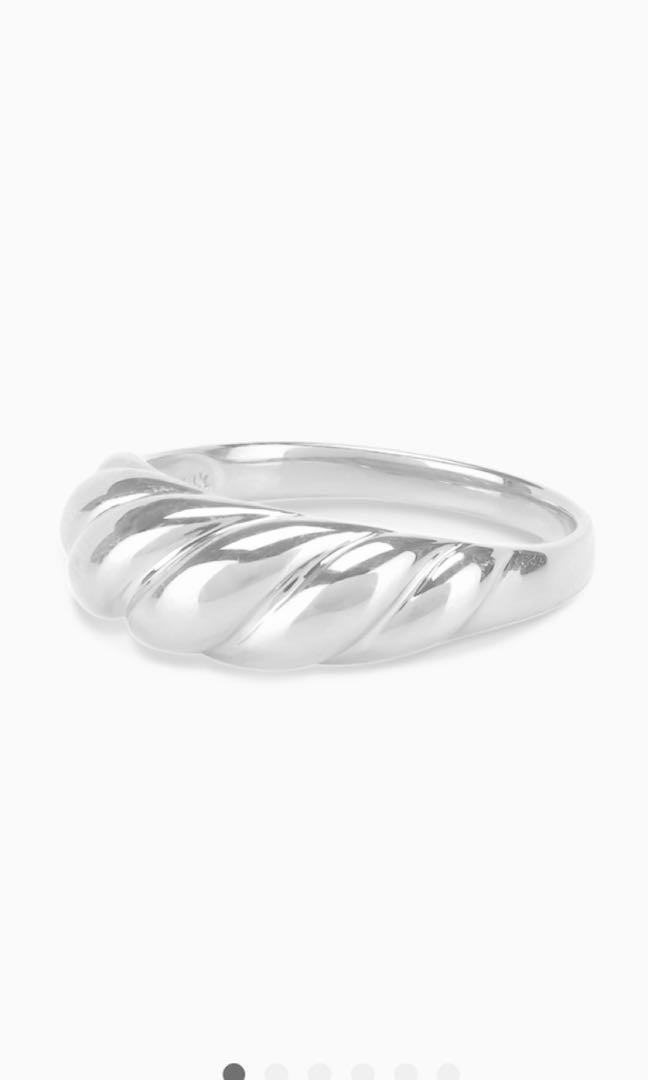 Brand new Mejuri Croissant ring white gold 14k retail $463 with tax