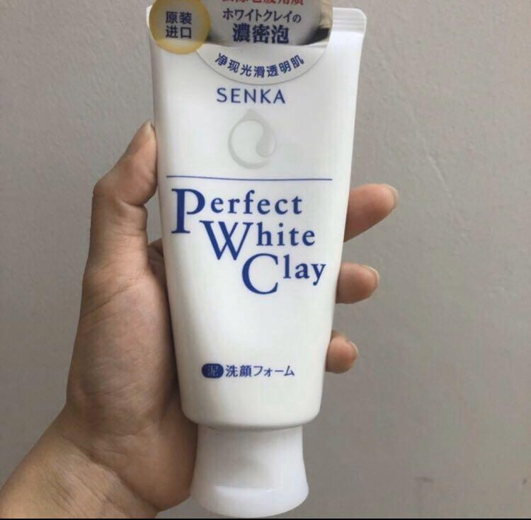 [Clearance] Senka Perfect Cleansing Foam White Clay 120g