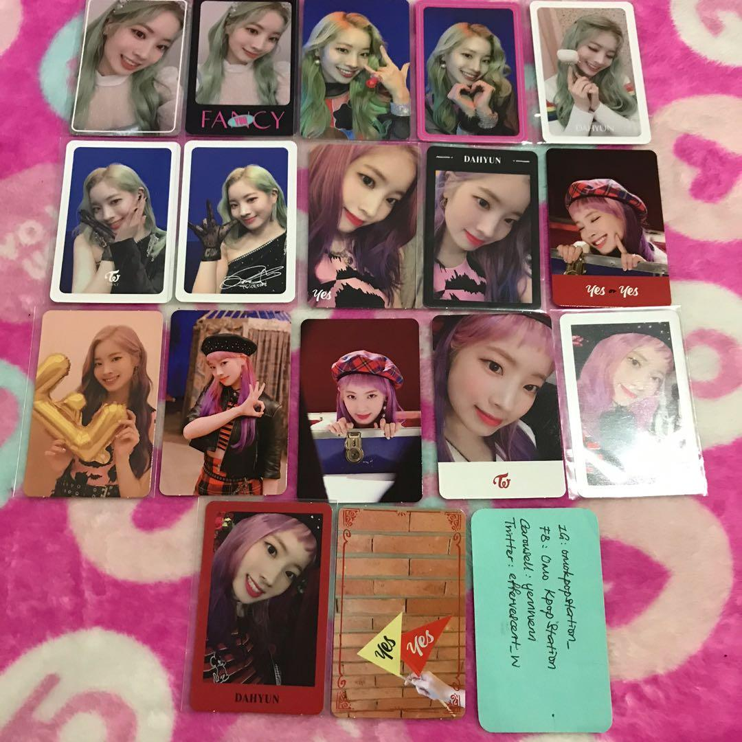 [CLEARANCE] Twice Dahyun Fancy, Yes Or Yes Official Photocards