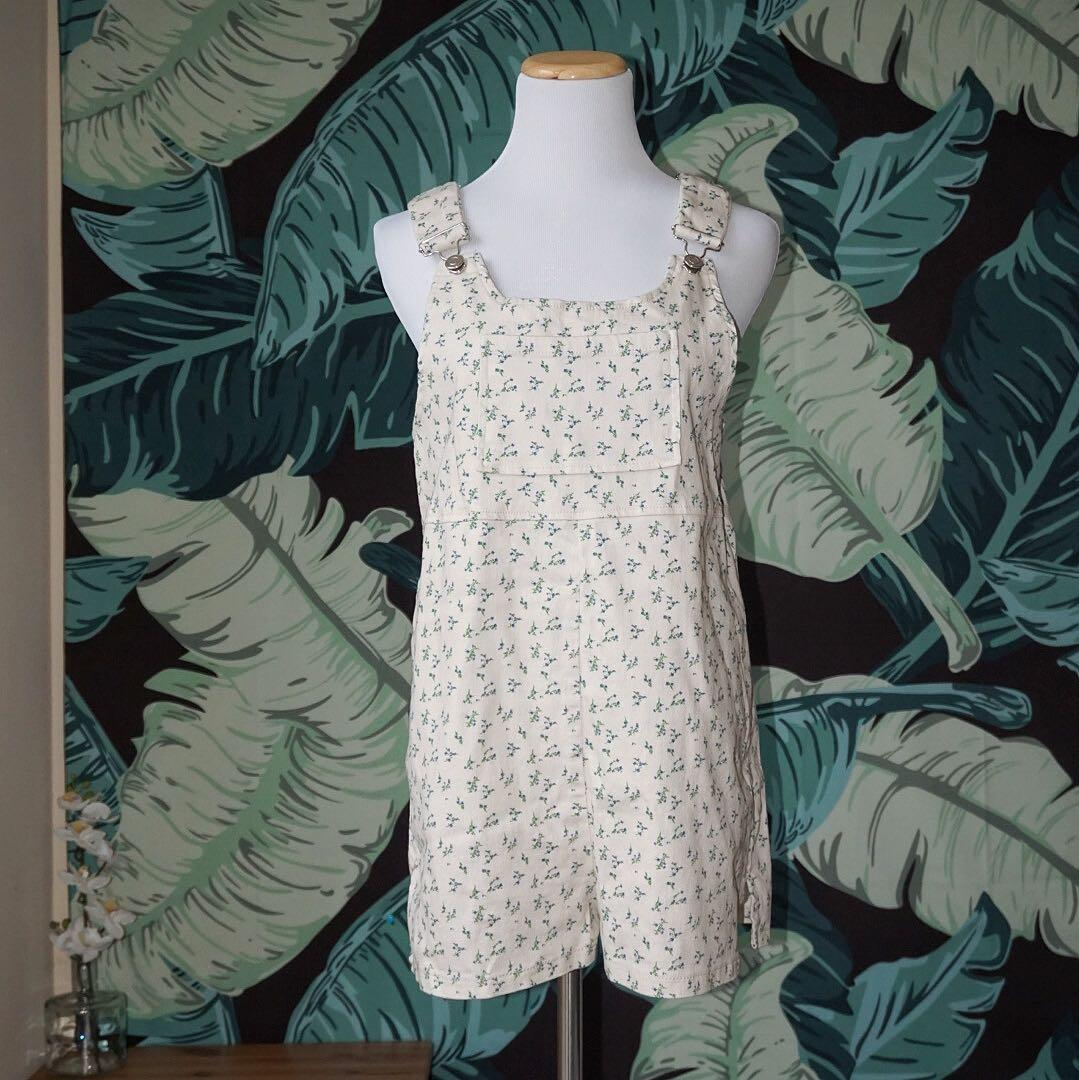 *EUC* Urban Outfitters Floral Shortall Overall Size S