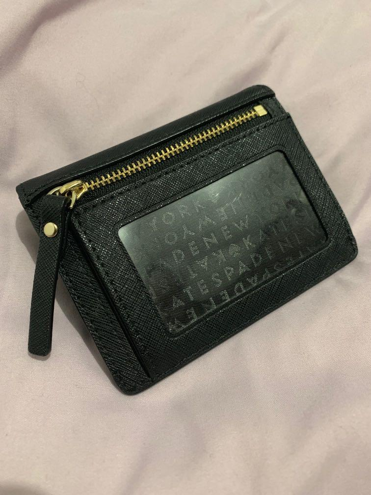 Kate Spade Black Saffiano Leather Wallet with Keyring