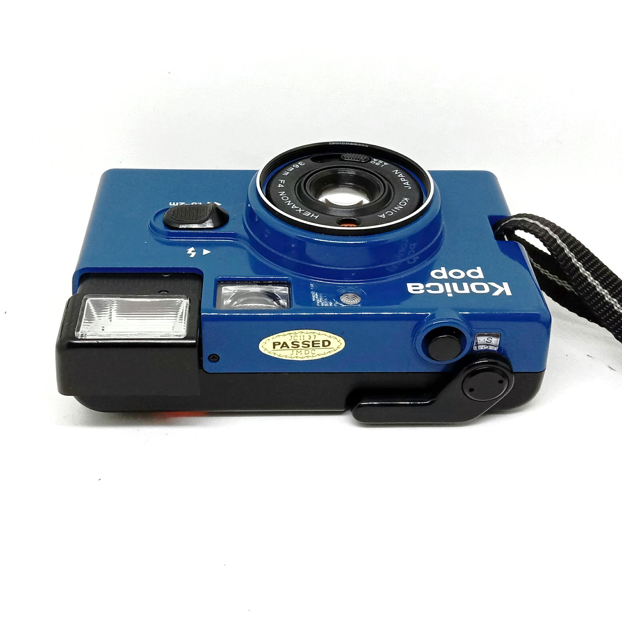 Konica Pop Blue 35mm Film Camera