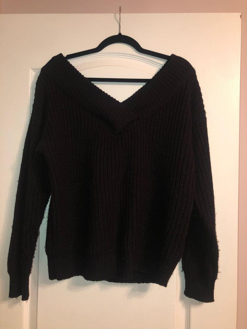 M Store - Size M (fits L too) Off Shoulder Sweater