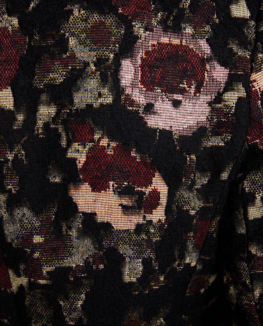 NWOT ZARA Floral Jacquard Coat - Size S