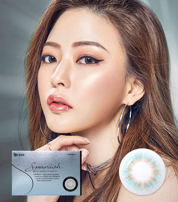 OLENS Spanish Real Gray & Real Sky Coloured Contact Lenses