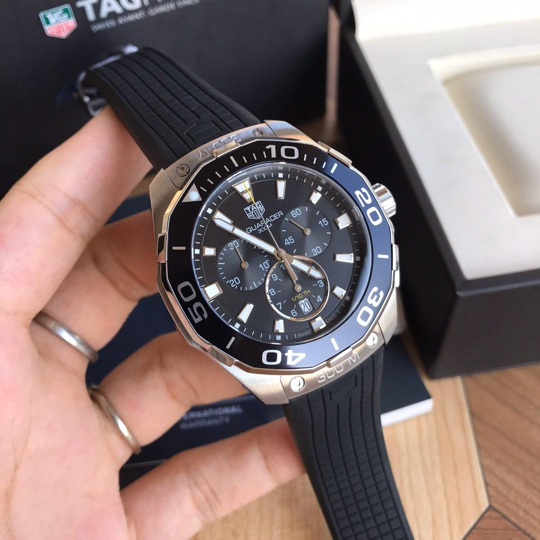 Original ressambled TAGHeuer Aquaracer Chronograph Swiss Ronda CAY111A.FT6041 rubber strap