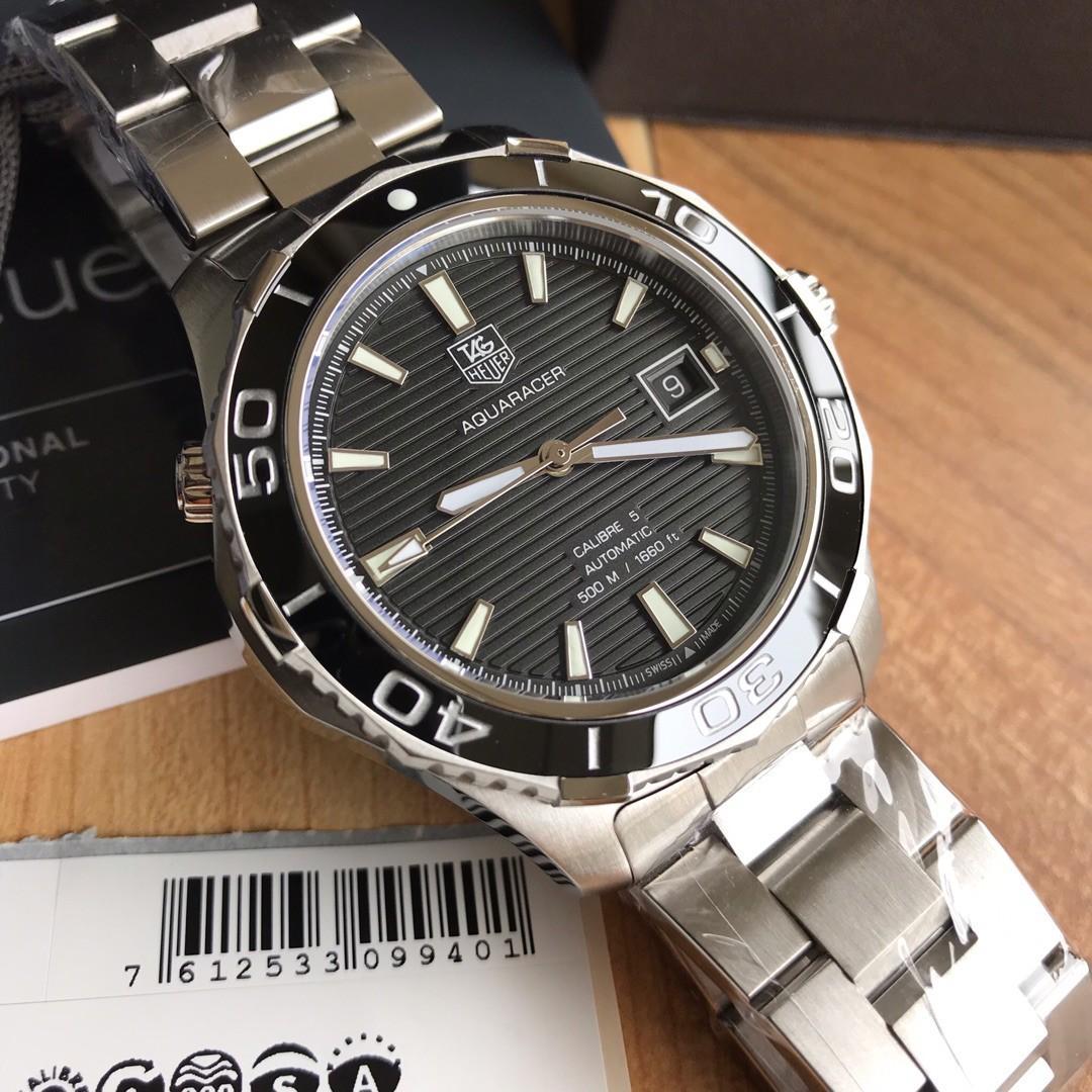 Original Ressambled TAGHeuer Aquaracer Swiss made Calibre 5 WAK2110 Black & Blue dial