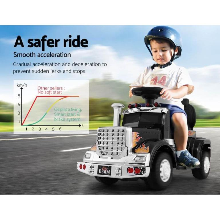 Ride On Cars Kids Electric Toys Car Battery Truck Childrens Motorbike Toy Rigo White