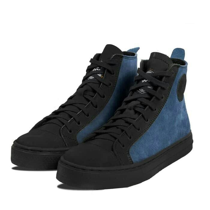 Sepatu exodos 57 vromiko navy black not converse vans nike adidas