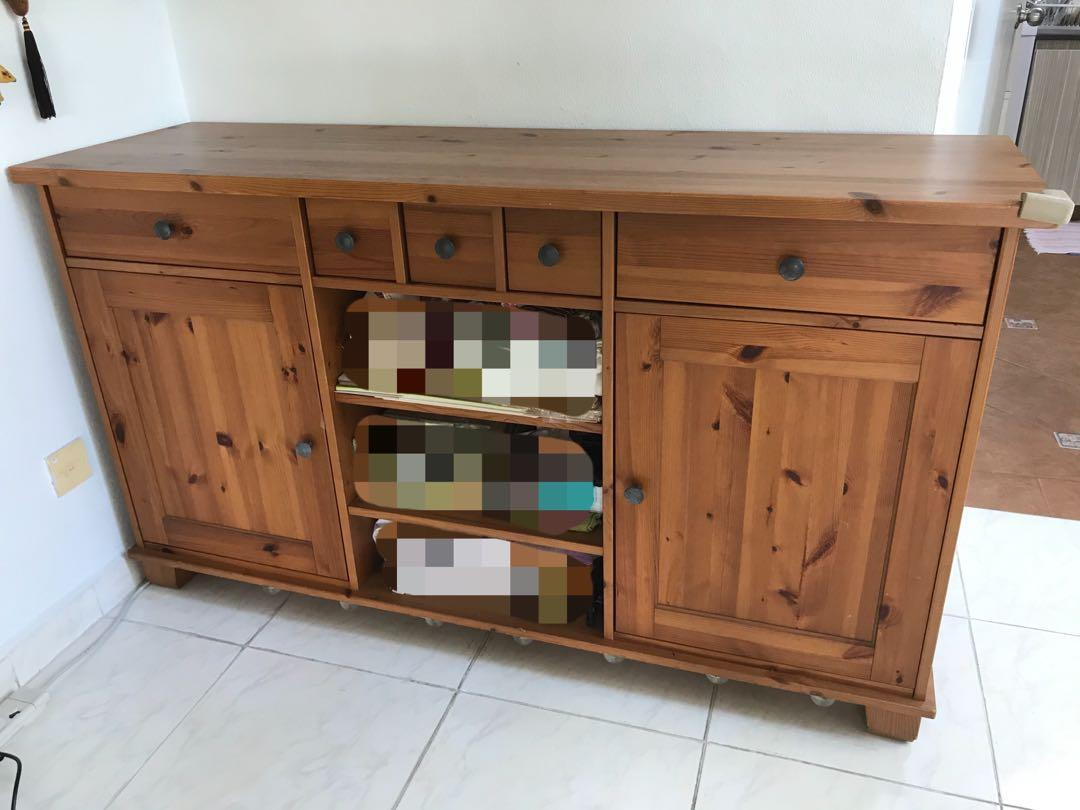 Solid Wood Ikea Buffet Hutch