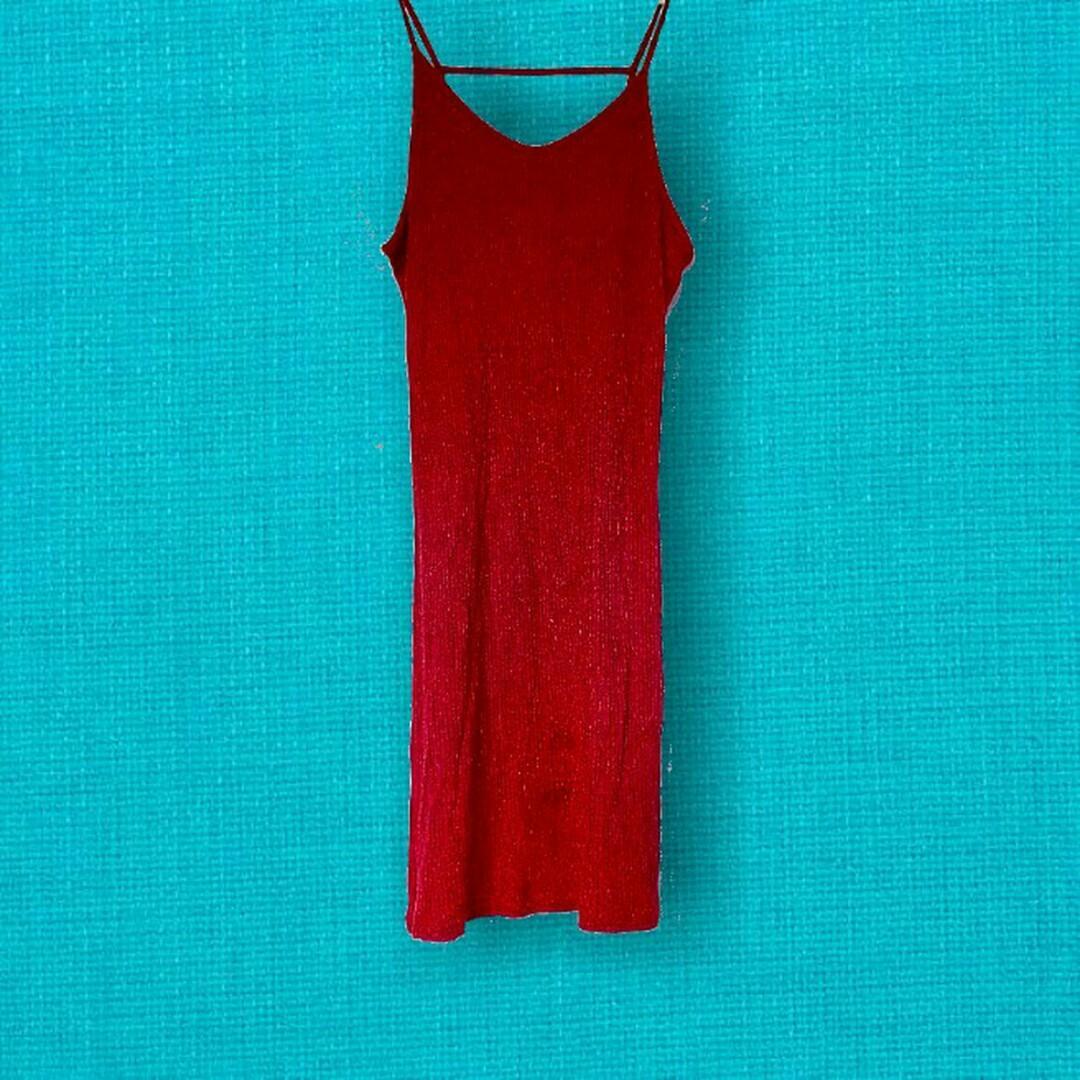 Topshop marl red maroon ribbed knit bodycon dress xs