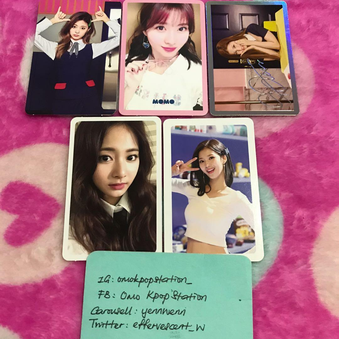 Twice Signal, Likey, Merry & Happy Official Photocards