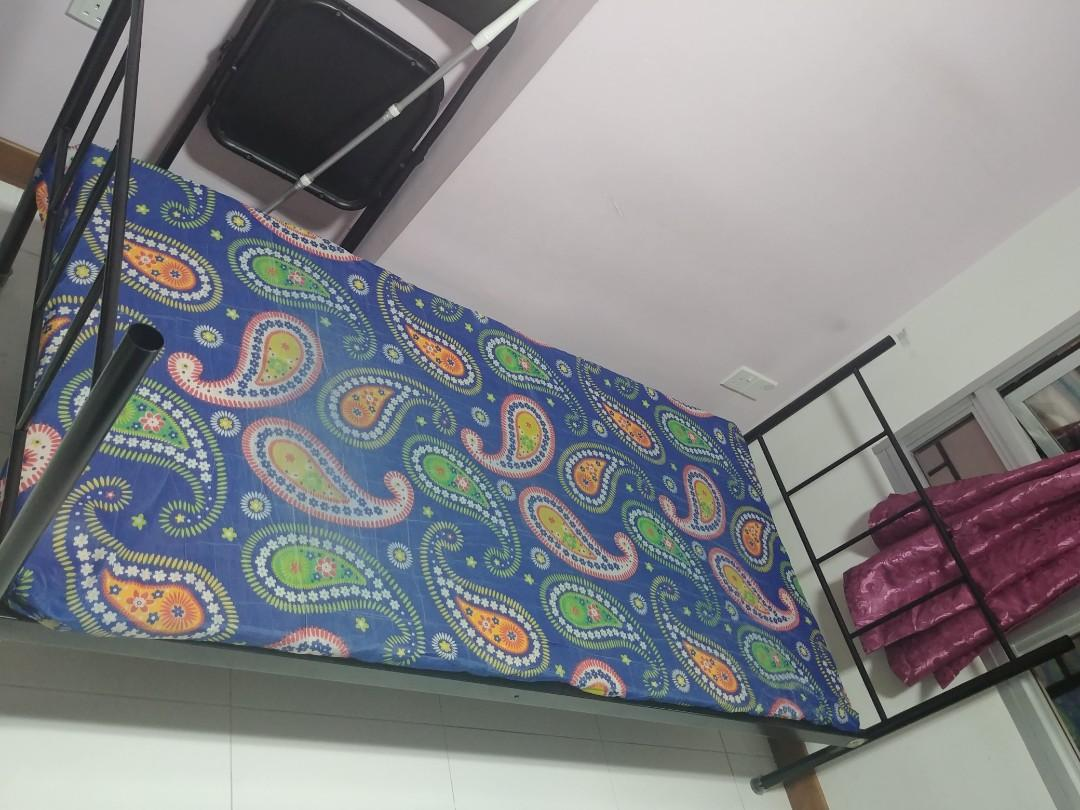 Used Single Bed Frame together with the super thin mattress