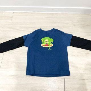 全新Paul Frank大嘴猴 假兩件式長袖上衣 24m
