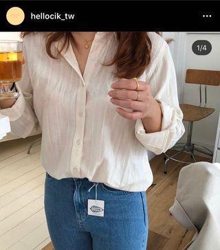 hellocik 法式高雅襯衫 米白色