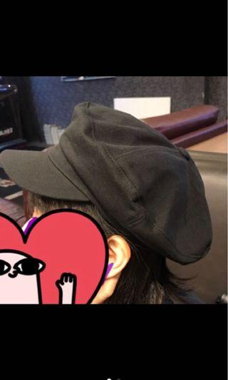 正韓 黑色 報童帽 (全新)