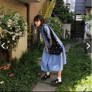 轉賣極新 數字帆布包 自製 sousou風格 marimekko muji 文青風搭配 側背肩背 日式日本穿搭日雜