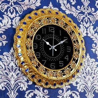 🍀簡約歐式田園創意藝術家用時鐘客廳静音鍾