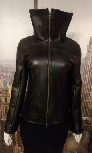 Danier Shearing Lined Leather Jacket