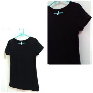 【 銅板專區】黑色修身短袖T-shirt  #出清2019