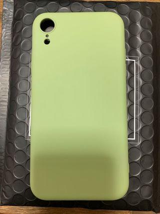 iPhone XR 液態掛膠 手機殼(抹茶綠)無logo