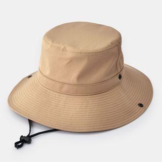無印良品muji全新吊牌已拆  防撥水有簷帽 漁夫帽 男女可戴 防潑水 卡其色 登山帽 露營帽 防曬