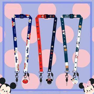 現貨1(預購S) 迪士尼萬用雙邊手機掛繩(一組3條)