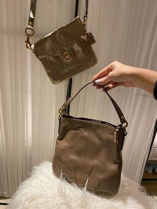 Coach Patent Crossbody and Leather Shoulder Bag
