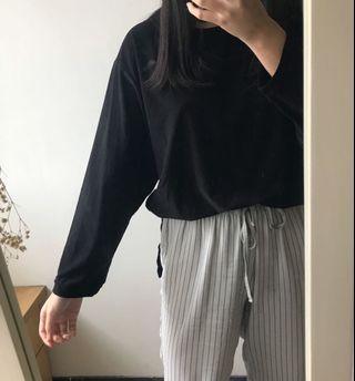 黑色長袖上衣  #出清2019