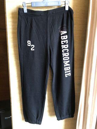 A&F黑色xs棉褲女生版全新