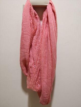 全新🆕蕾絲圍巾