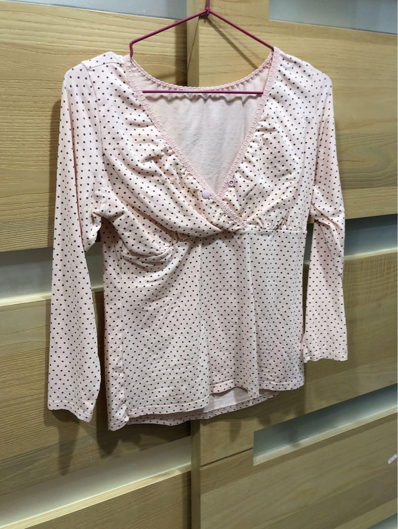 #出清2019 (3件)哺乳月子衣 M
