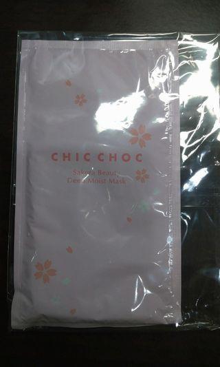 Chic choc 櫻花水潤面膜