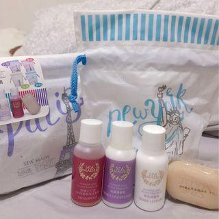 SPA MADE香氛沐浴旅行組 隨身 盥洗 洗髮乳沐浴乳精油皂乳液(兩組合售)