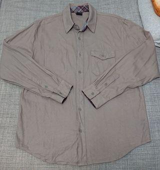 NIKE SB 6.0 男生休閒燈心絨長袖襯衫 (藕咖啡色) 2手